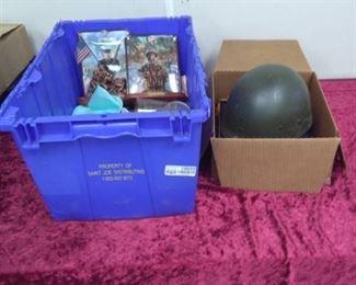 Marines Helmet Liner, Collectibles, Books…
