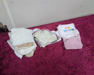 Crocheted Doileys, Dresser Scarves…