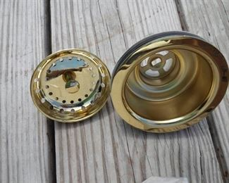 Gold Sink Drain with matching Gold Stopper