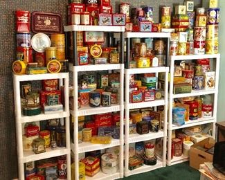 A huge collection of tins