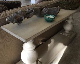 Beautiful wite console table,  70 inches long by 31 deep.  Price: $185
