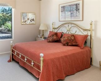 Brass bed frame for sale too.