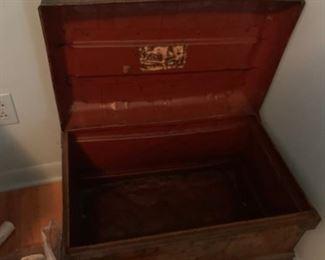 #13metal chest w lid 23x16x17 $60.00