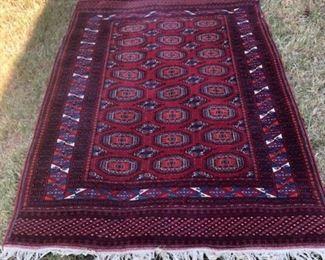 #76 Bokhara Pakistani wool rug 6' x 4' $75.00