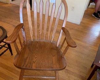 #4oak arm chair  $65.00