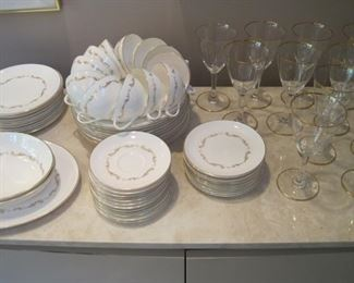 "Royal Doulton China, ""French Provincial""  service for 12"