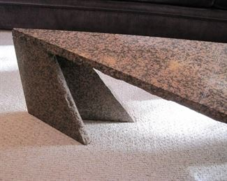 Granite Coffee Table with sweeping contemporary lines.