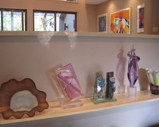 Art Glass by Haffiza, Murano and others.