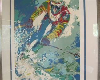 Leroy Neiman Skier, hand signed.