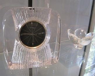 Daum and Orrefors crystal.