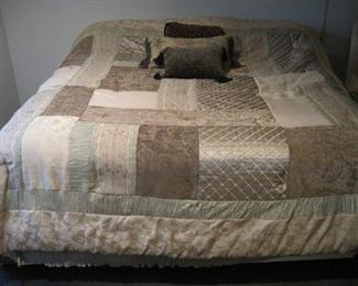 King Size Bed with Bedding.