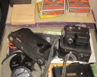 Vintage Cameras and Movies.