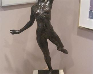 "Buy it Now for $45,000. 952-261-6461 for viewing. Paul Granlund  Bronze South Wind II. Stands 42"" tall without her platform. This is # 3 of only 10 made.  She is described by Granlund in the  book ""Spirit of Bronze"" by William Freiert as follows. "" The sensuous kiss of the sun can be felt in South Wind II as she basks in the warm breezes of summer"". This is a very rare find!"