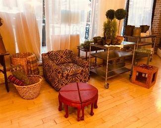 Wicker  Bamboo Club chairs