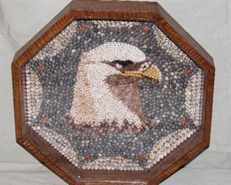"""Sailors Valentine Eagle All Valentines made by """"Helen Beck"""""""