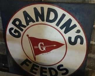 Large Grandin's Feed Sign