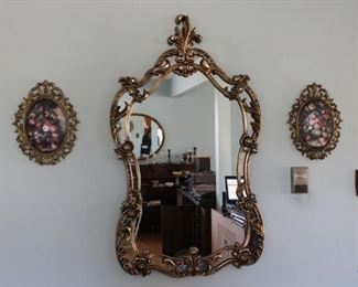 Ornate Gold Gild Like Mirror, Gold Gild like Flower Pictures