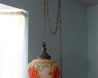 Pair of Glass Grape Hanging Lamps