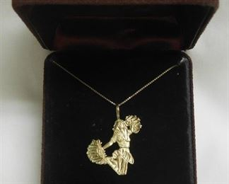 14 k Cheerleader Necklace