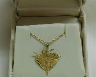14 k Ballerina Necklace