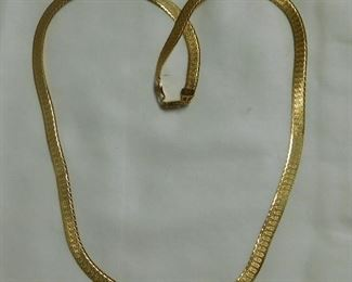 14 k Herringbone Necklace