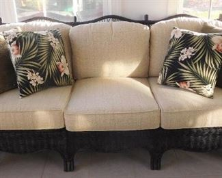 6 Piece Rattan Living Room Set
