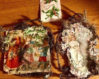 Scrap & Tinsel Christmas Ornaments