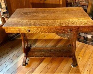 Oak library desk