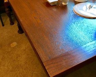 Mint oak dining room table