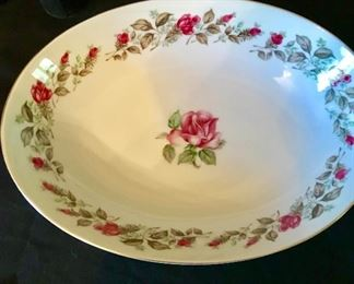 """""""Moss Rose"""" Diamond china bowl"""