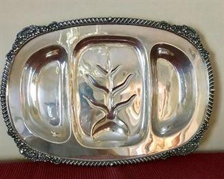 Silver meat platter