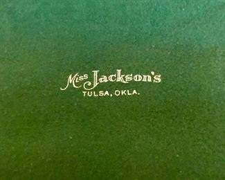 Silver platter from Miss Jackson's in Tulsa, Okla