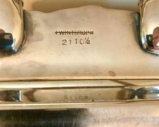 Winthrop silver platter