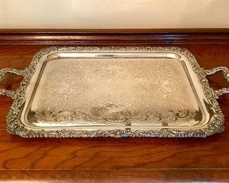 Beautiful silver serving platter