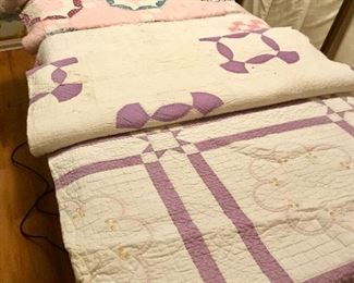 Old hand made quilts