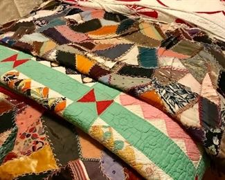 Lots of old quilts
