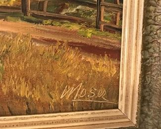 Signed oil by Moser. (Kurt Moser 1926-1982)