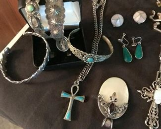 Sterling & turquoise jewelry