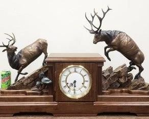 Large bronze sculpture clock - one of a kind