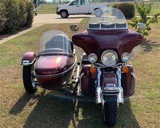 2003 Harley UltraGlide w/side car ~5000 mi.  One owner.  Fully loaded.