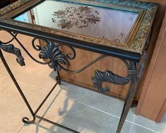 Beautiful Mirror Top Side Table!