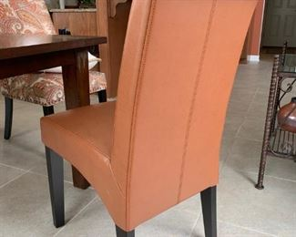 Grandinroad Valencia Seating Desert Bonded Leather Side Chairs!