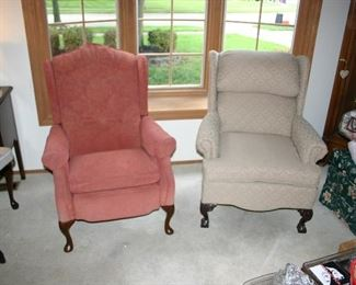 Heritage House Cloth Arm Chairs