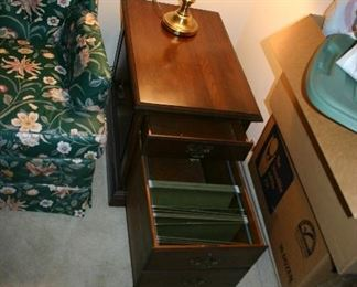 Side Table 2 Drawer Wood File Cabinet
