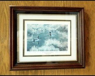 """Small Ducks Unlimited Print, """"Fall Fellows""""."""