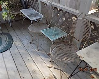 Vintage wire tables and chairs