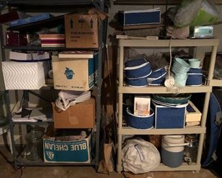 many boxes in basement still to be unpacked and photographed