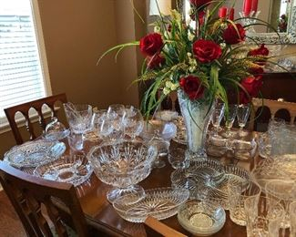 More crystal  Flower arrangement done by Southern Homes and Gardens