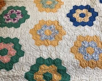 Hand stitched queen sized quilt