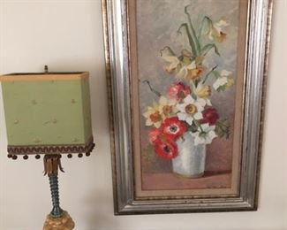 Lamp and painting
